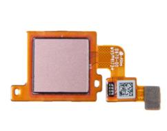 Шлейф для Xiaomi Mi A1, Mi 5X (Mi5X, MiA1) в сборе со сканером отпечатком пальцев, цвет: розовое золото