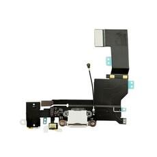 Шлейф разъема зарядки и разъема наушников Audio Jack для Apple iPhone SE (Charge Conn), цвет: белый