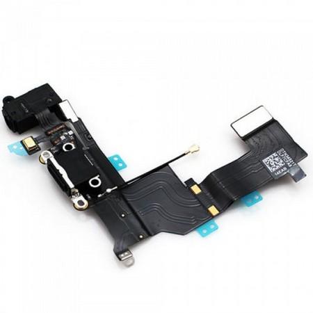 Шлейф разъема зарядки и разъема наушников Audio Jack для Apple iPhone SE (Charge Conn), цвет: черный