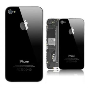 Задняя крышка для Apple Iphone 4 (4G) A1332, A1349 цвет: черный