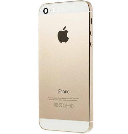 Задняя крышка (корпус) для Apple iPhone 5S (A1533, A1457 , A1530, A1533, A1453, A1518, A1528, A1530 цвет: золотой