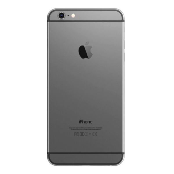 Задняя крышка (корпус) для Apple iPhone 6+ Plus (A1524, A1522) цвет: темно-серый