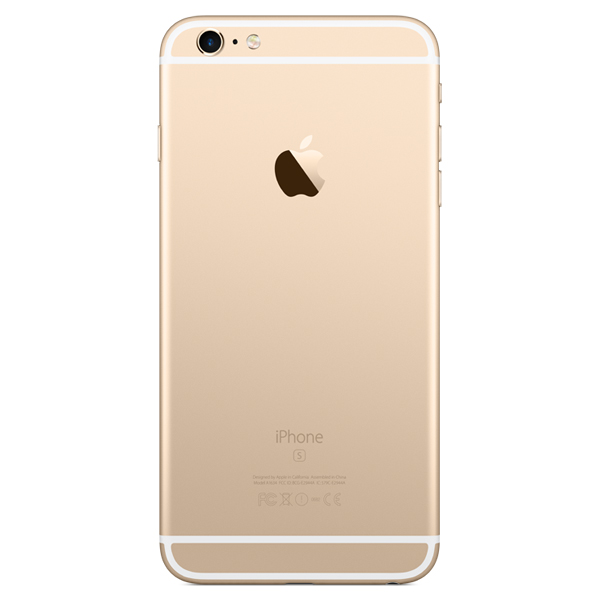 Задняя крышка (корпус) для Apple iPhone 6S Plus (A1634, A1687) цвет: золотой