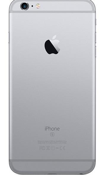 Задняя крышка (корпус) для Apple iPhone 6S Plus (A1634, A1687) цвет: темно-серый