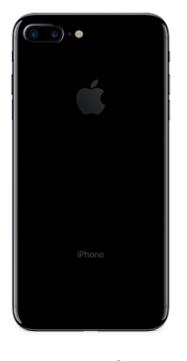 Задняя крышка (корпус) для Apple iPhone 7 Plus (A1784) цвет: черный глянцевый