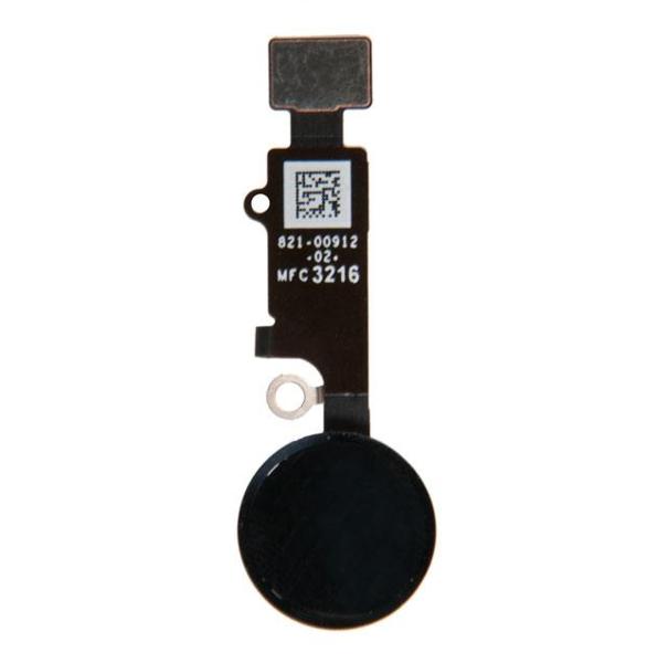 Шлейф кнопки Home для Apple iPhone 7 (механическое нажатие), цвет: черный
