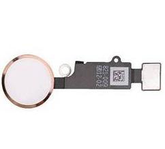 Шлейф кнопки Home для Apple iPhone 8 Plus (сенсорное нажатие), цвет: белый/розовое золото