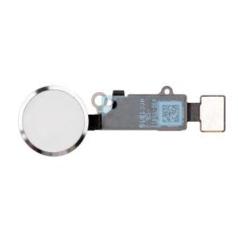 Шлейф кнопки Home для Apple iPhone 8 (механическое нажатие), цвет: белый/серебристый