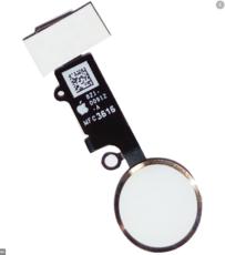 Шлейф кнопки Home для Apple iPhone 8 (сенсорное нажатие), цвет: белый/серебристый