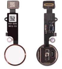 Шлейф кнопки Home для Apple iPhone 7 (механическое нажатие), цвет: белый/золотой