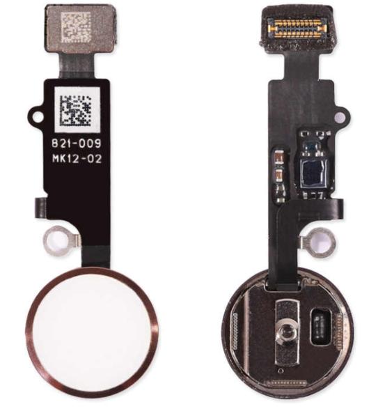 Шлейф кнопки Home для Apple iPhone 7 Plus (механическое нажатие), цвет: белый/золотой