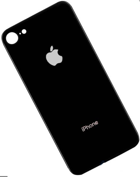 Задняя крышка для Apple iPhone 8 (A1863, A1905, A1906) стекло, цвет: серый (черный)