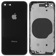 Корпус (задняя крышка, рамка, сим-лоток) для Apple iPhone 8, цвет: черный