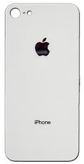 Задняя крышка для Apple iPhone 8 (A1863, A1905, A1906) стекло, цвет: белый (серебристый)