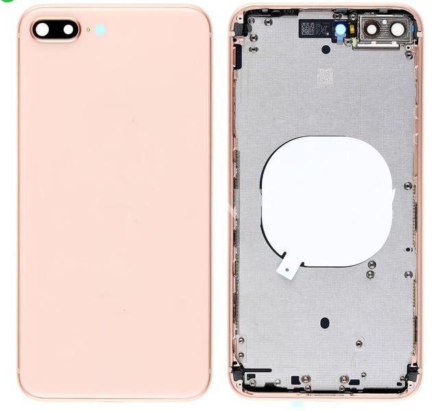 Корпус (задняя крышка, рамка, сим-лоток) для Apple iPhone 8 Plus, цвет: золотой
