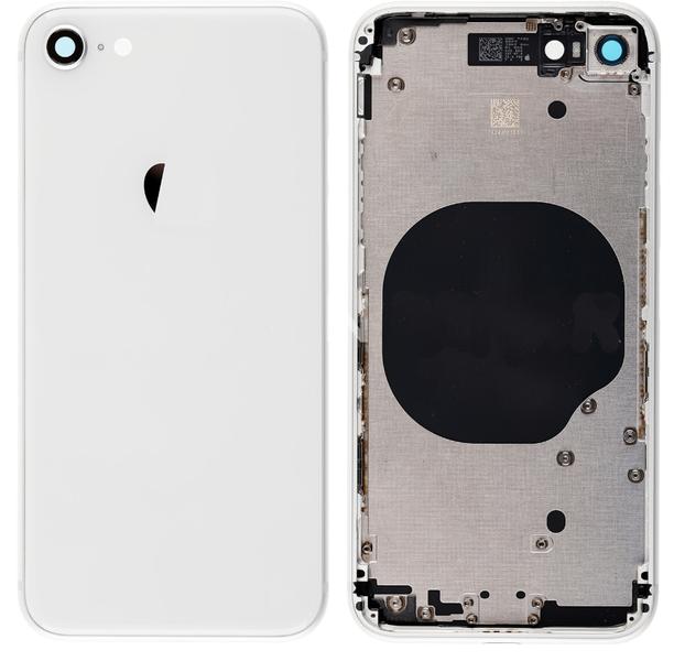 Корпус (задняя крышка, рамка, сим-лоток) для Apple iPhone 8, цвет: серебристый