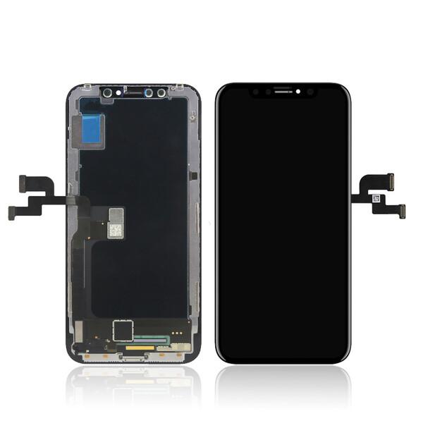 Экран для Apple iPhone X с тачскрином, цвет: черный (оригинальный, новый, снятый)