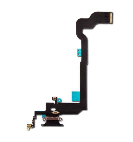 Шлейф с разъемом зарядки и микрофоном для Apple iPhone X (Charge Conn), цвет: черный