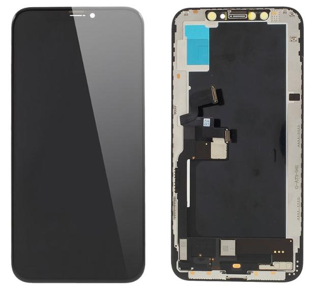 Экран для Apple iPhone XS с тачскрином, цвет: черный (оригинальный, новый, снятый)