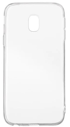 Чехол для Samsung Galaxy J3 2017 J330 силиконовый, цвет: прозрачный