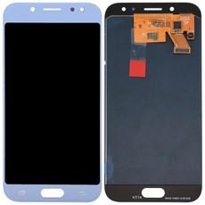 Экран для Samsung Galaxy J5 2017 (SM-J530FM) с тачскрином OLED, цвет: голубой