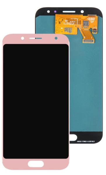Экран для Samsung Galaxy J5 2017 (SM-J530FM) с тачскрином OLED, цвет: розовый