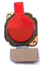 Шлейф для Huawei Honor 8X со сканером (сенсором) отпечатка пальцев, цвет: красный