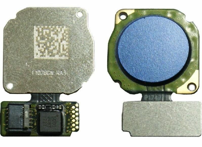 Шлейф для Huawei Honor 8X со сканером (сенсором) отпечатка пальцев, цвет: синий