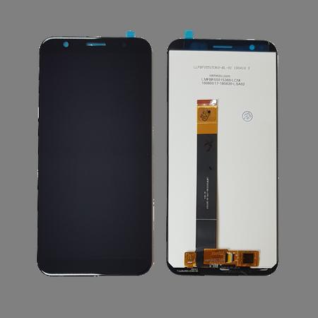 Экран для Meizu M8c с тачскрином, цвет: черный