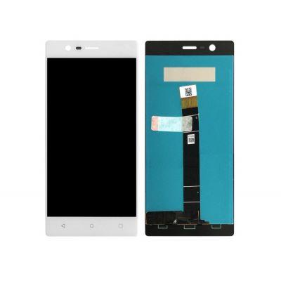 Экран для Nokia 3 с тачскрином, цвет: белый