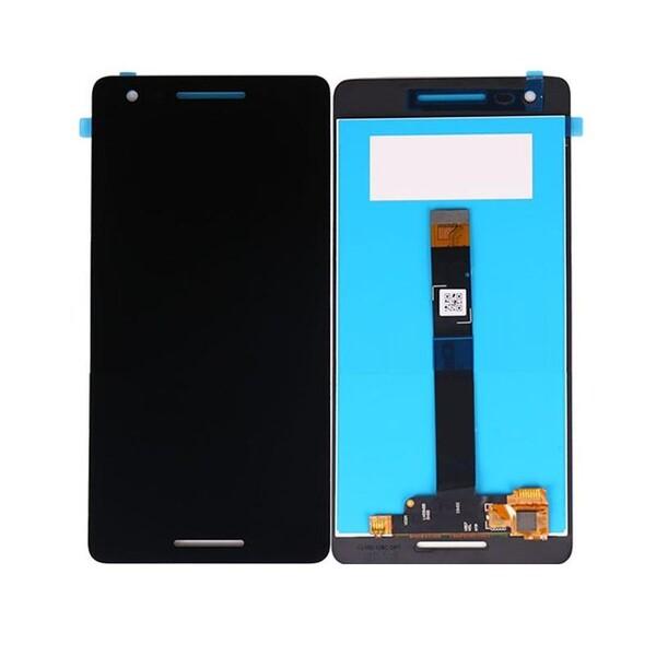 Экран для Nokia 2.1 с тачскрином, цвет: черный