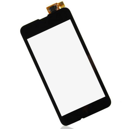 Тачскрин для Nokia Lumia 530 Dual SIM RM-1017 (RM-1019), цвет: черный