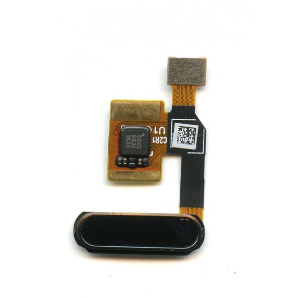 Шлейф для Xiaomi Mi 5C (Mi5C) со сканером (сенсором) отпечатка пальцев, цвет: черный