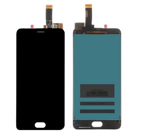 Экран для Meizu M6 с тачскрином, цвет: черный
