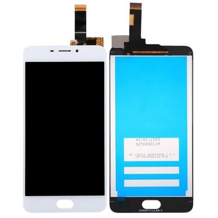 Экран для Meizu M6 с тачскрином, цвет: белый