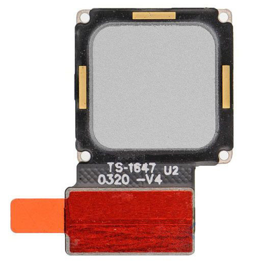 Шлейф для Huawei Mate 9 в сборе со сканером отпечатка пальцев, цвет: серебристый