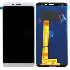 Экран для Meizu M6S с тачскрином, цвет: белый