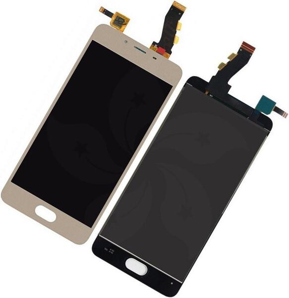 Экран для Meizu U10 с тачскрином, цвет: золотой