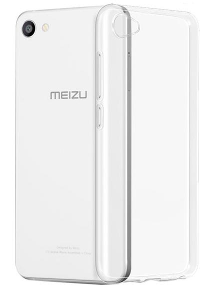 Чехол-бампер для Meizu U10, цвет: прозрачный