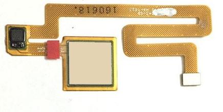 Шлейф для Xiaomi Mi Max со сканером (сенсором) отпечатка пальцев, цвет: золотой