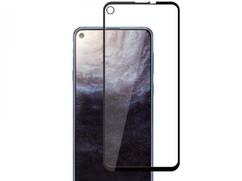 Защитное стекло для Samsung Galaxy M11 5D (полная проклейка), цвет: черный