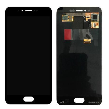 Экран для Meizu MX6 с тачскрином, цвет: черный