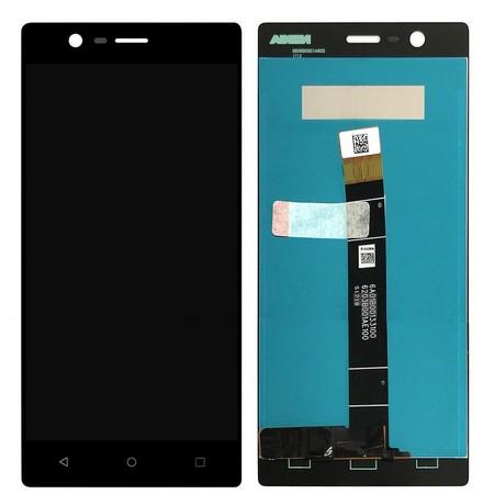 Экран для Nokia 3 с тачскрином, цвет: черный