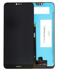 Экран для Nokia 7.1 с тачскрином, цвет: черный