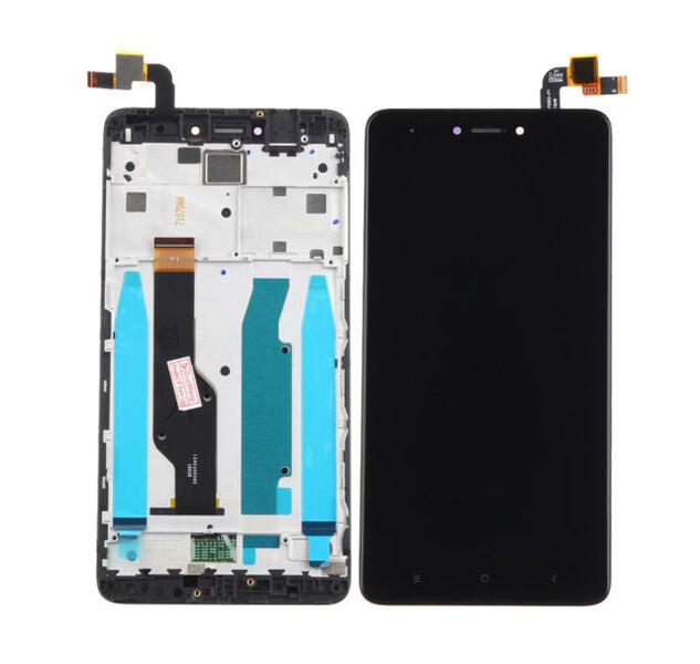 Экран для Xiaomi Redmi Note 4X, Note 4 Global с тачскрином, цвет: черный (с рамкой, не склеенный)
