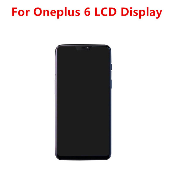 Экран для OnePlus 6 с тачскрином, цвет: черный (оригинал)