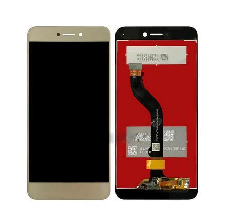 Экран для Huawei P8 Lite 2017 (Honor 8 Lite) с тачскрином, цвет: золотой