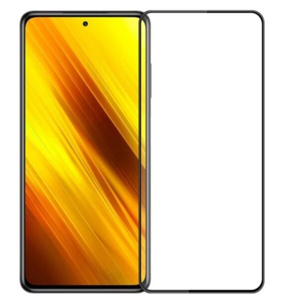 Защитное стекло для Xiaomi POCO X3, X3 PRO 5D (полная проклейка), цвет: черный