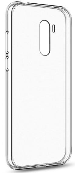 Чехол для Xiaomi Pocophone F1 силиконовый, цвет: прозрачный