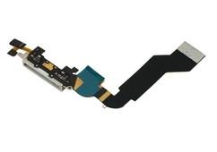 Шлейф разъема зарядки для Apple iPhone 4s (Charge Conn), цвет: белый